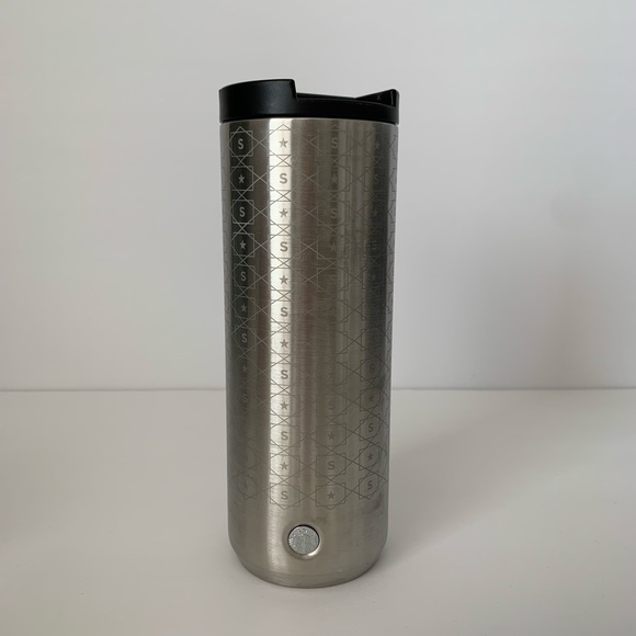 Starbucks Other - Starbucks Silver Reusable Coffee Tumbler 16 oz